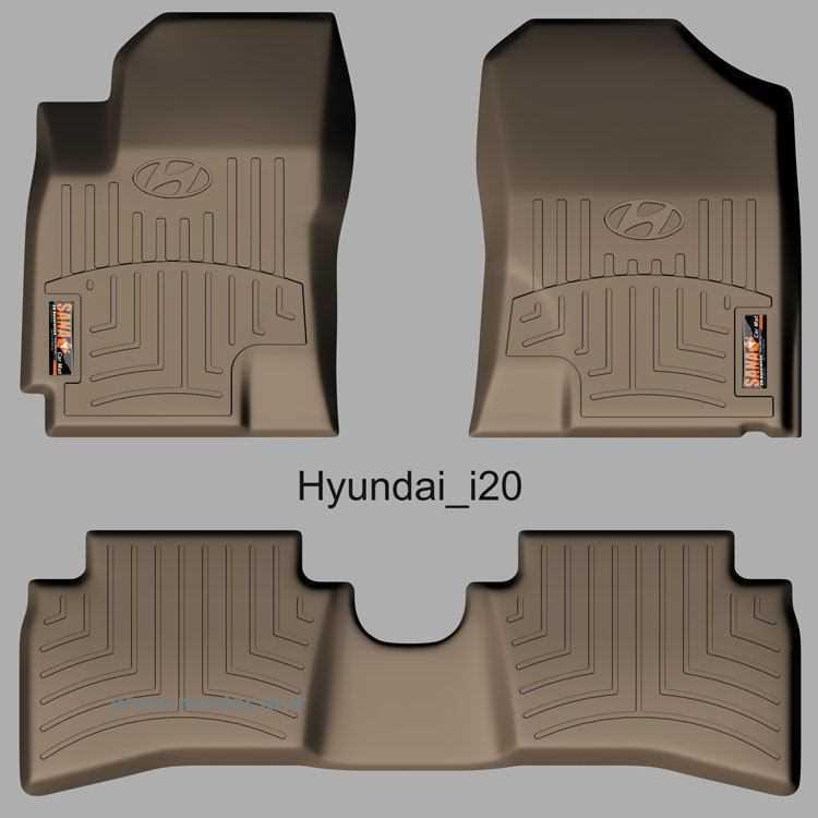 کفپوش سه بعدی هیوندا i20