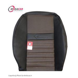 تمام چرم مشکی قهوه ای - اورانوس - مداکار - کد 7012