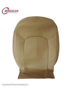 روکش صندلی پژو 407 - چرم کرم - آیسان