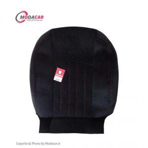 روکش صندلی 206 - پارچه مخمل مشکی نخ قرمز - اورانوس