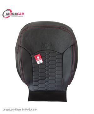 روکش صندلی 206 - چرم مشکی ایرانی نخ قرمز - اورانوس