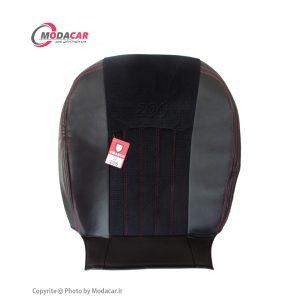 روکش صندلی 206 - چرم و مخمل مشکی نخ قرمز - اورانوس