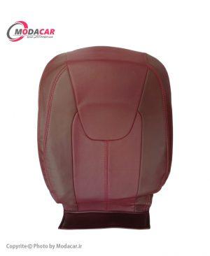 روکش صندلی آریزو 5 - چرم قهوه ای زرشکی - آیسان