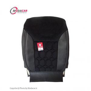 روکش صندلی تیبا دو - چرم و مخمل مشکی - اورانوس