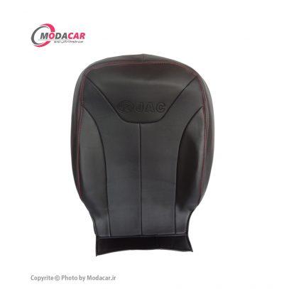 روکش صندلی جک J5 - چرم مشکی نخ قرمز - آیسان