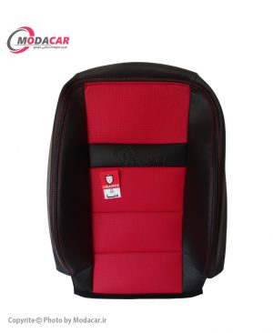 روکش صندلی دنا و دنا پلاس - چرم مشکی قرمز - اورانوس